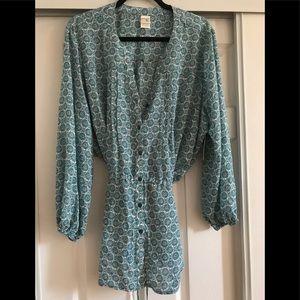 Woman's teal blouse 1XL